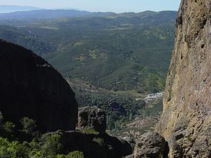 Gabilan Range - View west from the Gabilan Mountains, Pinnacles National Park