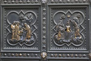 Andrea Pisano - Detail of Andrea Pisano's panel for the Florence Baptistery.