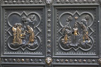 Giovanni Villani - Villani was the superintendent of the construction of Andrea Pisano's bronze doors for the Florence Baptistry.