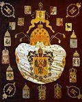 Plafond of suspended coronation canopy (1896, Kremlin).jpg