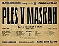 Plakat za predstavo Ples v maskah v Narodnem gledališču v Maribor 5. junija 1940.jpg