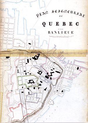 History of Quebec City - Seigneurial plan of Quebec City about 1860