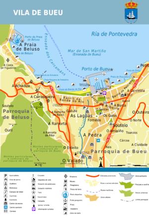 O Morrazo - Image: Plano vila de Bueu