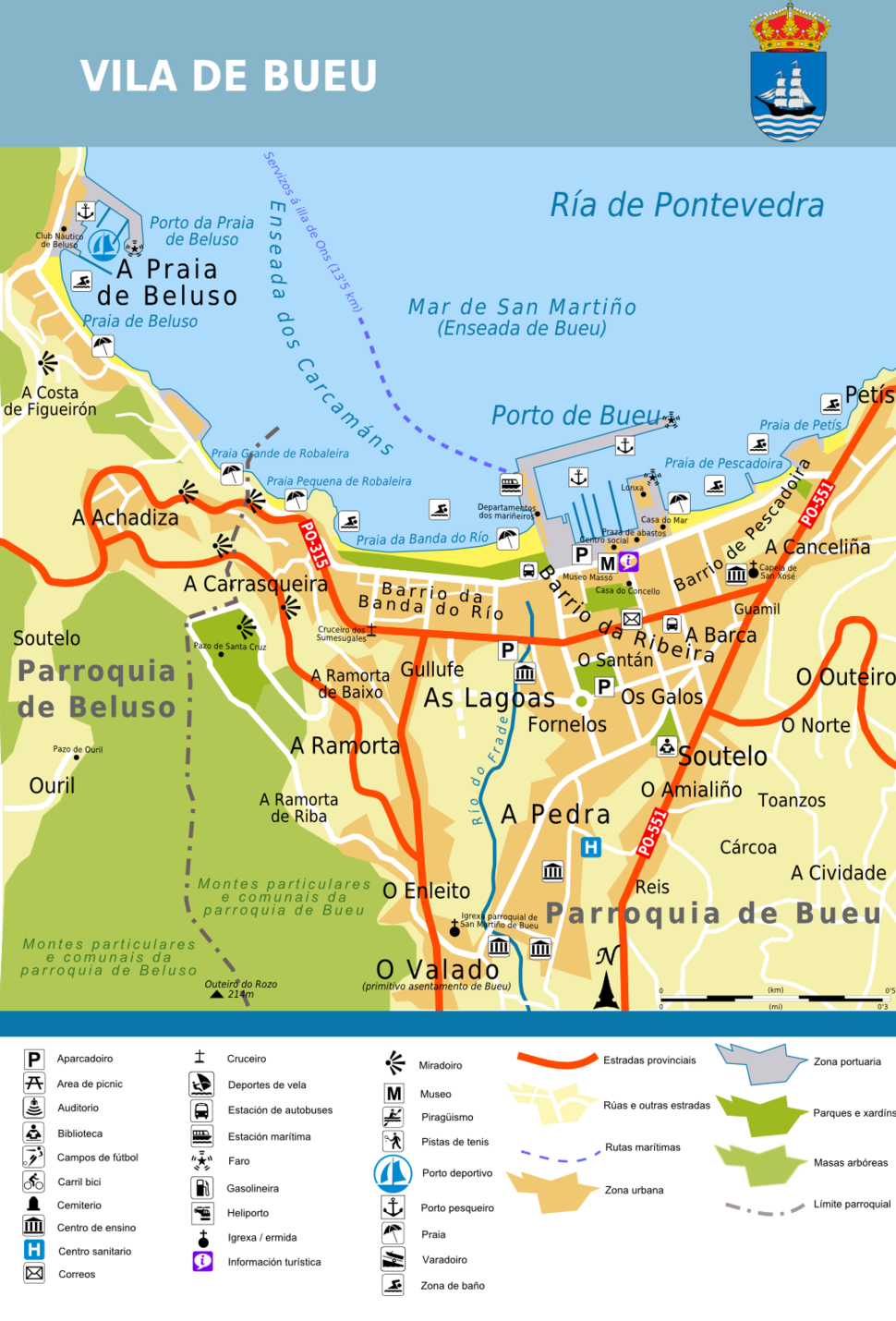 Plano vila de Bueu