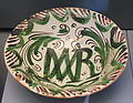Plate with inscription MAR, Teruel, Spain, 16th century AD, ceramic - Museo Nacional de Artes Decorativas - Madrid, Spain - DSC08200.JPG