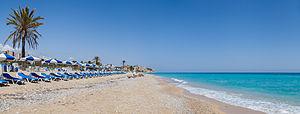 Villajoyosa - Paradise Beach in Villajoyosa.