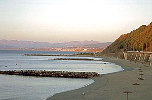 Playa del Chorillo - Playa del Chorillo with Morocco in the distance