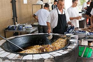 Pilaf - Public plov cooking in Tashkent