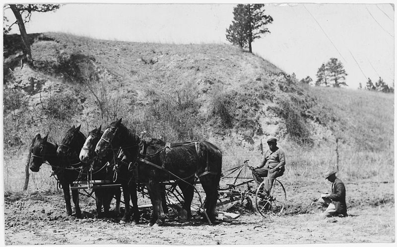 File:Plowing with a horse drawn plow - NARA - 285460.jpg