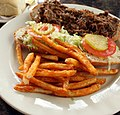 Po boy sandwich at Oak Alley Restaurant in Vacherie, Louisiana.jpg