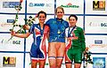 Podium women's points race - 2008 European Track Championships.jpg