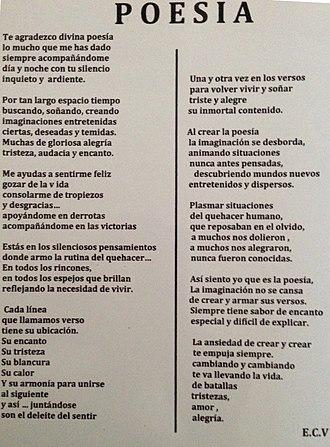 Eugenio Cruz Vargas - Poetry of Eugenio Cruz
