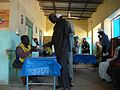 Poll worker explains voting process in southern Sudan referendum (5386993507).jpg