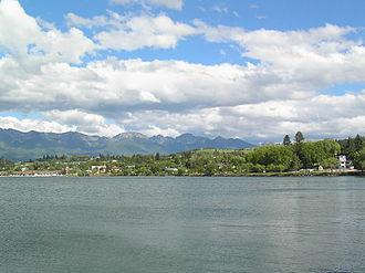 Polson, Montana - Polson, southern end of Flathead Lake
