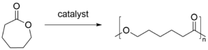 Polycaprolactone - Image: Polycaprolactone synthesis