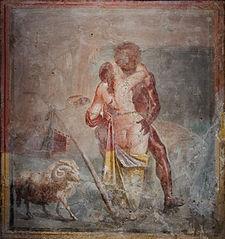 Polyphème et Galatée s'enlaçant