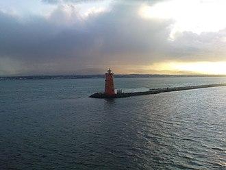 Poolbeg Lighthouse - Poolbeg Lighthouse at sunset