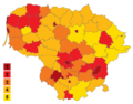 Population density in municipalities of Lithuania (blank).png