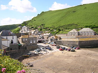 Fishing in Cornwall - Port Isaac, a historic fishing village on the north coast of Cornwall