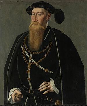 Reinoud III van Brederode - Reinoud III van Brederode with his Order of the Golden Fleece, by Jan van Scorel