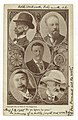 Portraits of envoys at the Portsmouth Peace Conference, Baron Komura and Kogoro Takahira (left), M. Witte and Baron Rosen (right), and President Theodore Roosevelt (center). Written at LCCN2005680018.jpg