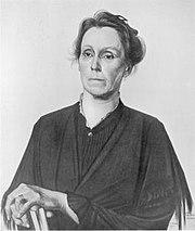 Portret van Henriette Roland Holst-van der Schalk, door M. de Klerk (1921).jpg