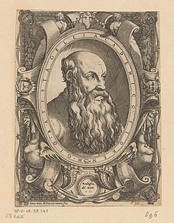 Portret van dichter en filosoof Giovan Battista Gelli Penningen van Anton Francesco Doni (serietitel) Medaglie del Doni (serietitel), RP-P-OB-38.343.jpg