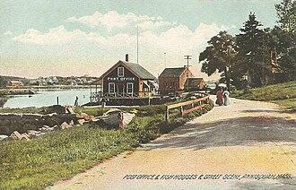 Annisquam, Massachusetts - Image: Post Office & Fish Houses & Street Scene, Annisquam, MA