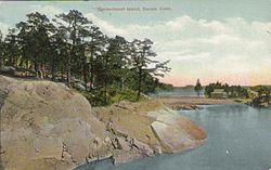 PostcardDarienCTContentmentIsland1914