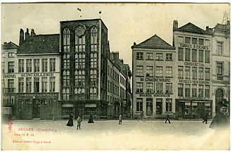 Bruges - Postcard showing the Cranenburg house
