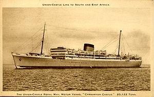 MV Carnarvon Castle - Carnarvon Castle after her 1938 refit