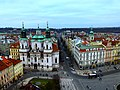 Prag - Blick vom Altstädter Rathausturm auf die Straße Pařížská - Zobrazit od Starého věže radnice na silnici Pařížská - panoramio.jpg