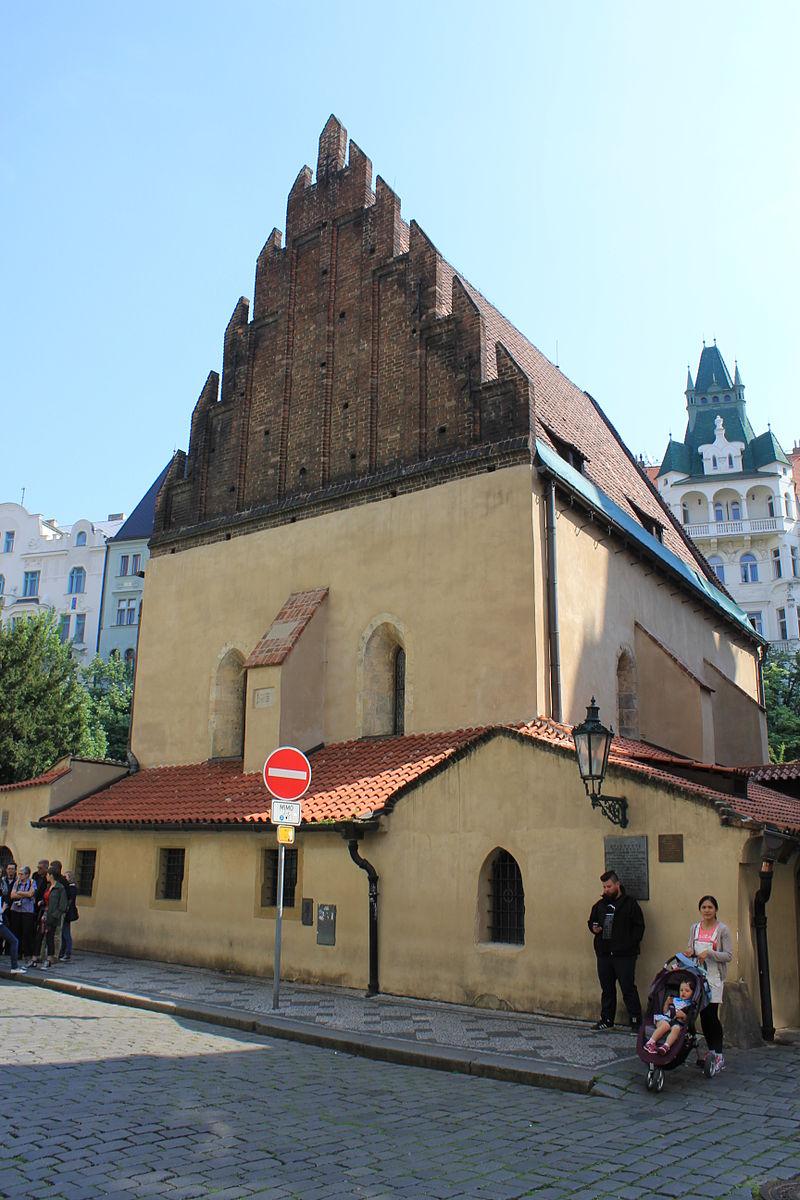 Prague Praha 2014 Holmstad flott gammelnye synagoge old-new synagogue Josefov.jpg