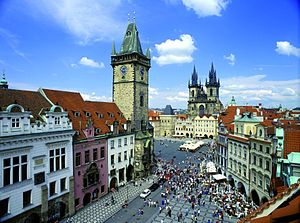 Urban planning in the Czech Republic - Prague's Old Town Square, a centre for tourism in the city