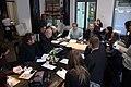 Praha, café Disk, tisková konference k Smoljakovým dílům.jpg
