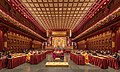 Praying monks and nuns in the Buddha Tooth Relic Temple of Singapore.jpg