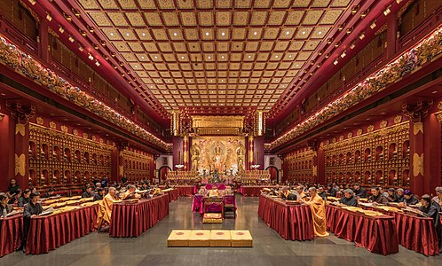 Prayer at the Buddha Tooth Relic Temple of Singapore