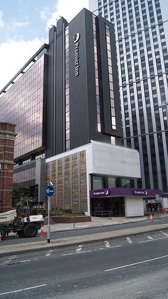 Premier Inn - Premier Inn in a former office building in Leeds (2012)