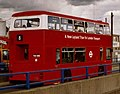 Preserved London Transport bus T1 (THX 401S), 1979 Leyland Titan B15, route 8, A12 slip road, 4 June 2004 cropped.jpg