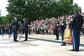 President Barack H. Obama, second from left, lays a wreath at the Tomb of the Unknowns in recognition of Memorial Day May 27, 2013, at Arlington National Cemetery in Arlington, Va 130527-A-VS818-159.jpg