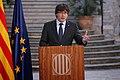 """President Puigdemont, """"La millor manera que tenim per defensar les conquestes assolides fins avui és l'oposició democràtica a l'aplicació de l'article 155"""".jpg"""