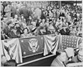 President Truman attends the first baseball game of the year at Griffith Stadium in Washington, D. C. The game is... - NARA - 199752.jpg