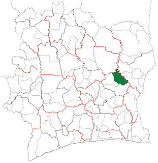 Prikro Department Department in Lacs, Ivory Coast