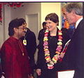 Prime Minister of New Zeland and Pandit Vikash Maharaj.jpg
