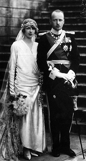Philipp, Landgrave of Hesse - Princess Mafalda and Philipp of Hesse on their wedding day, 23 September 1925