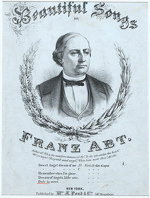 Franz Abt - Portrait of Franz Abt, from the cover of an edition of his songs