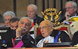 Professor Rugge with President emeritus Napolitano.jpg
