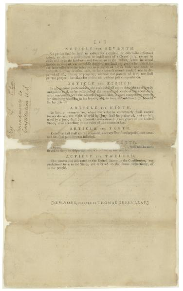 File:Proposed Amendments to the U.S. Constitution as Passed by the Senate, Printed September 14, 1789.djvu
