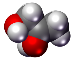 3D model of propylene glycol molecule. Prepare...