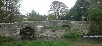 River Chew - Image: Publow bridge
